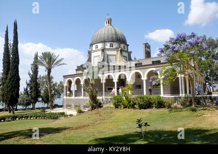 Israel, Galilee, Church of the Beatitudes on the northern coast of the Sea of Galilee in Israel. The traditional - Stock Photo