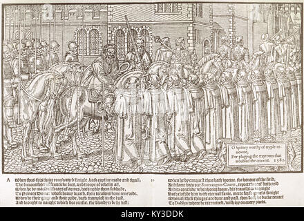The reception of Sir Henry Sidney by the mayor and aldermen of Dublin after a victory circa 1578 - Stock Photo