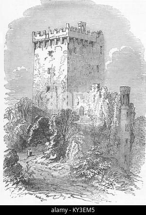 IRELAND Blarney Castle, near Cork 1849. Illustrated London News - Stock Photo