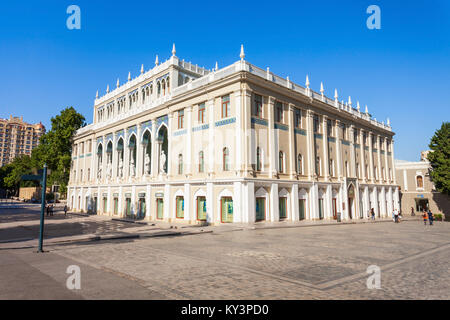 BAKU, AZERBAIJAN - SEPTEMBER 14, 2016: The Nizami Ganjavi National Museum of Azerbaijan literature is located in - Stock Photo