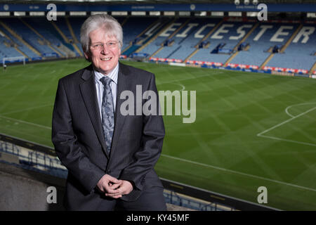 John Hutchinson, the club historian and archivist, pictured inside Leicester City's King Power stadium. The local - Stock Photo
