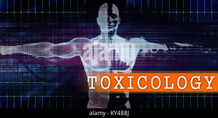 Toxicology Medical Industry with Human Body Scan Concept - Stock Photo