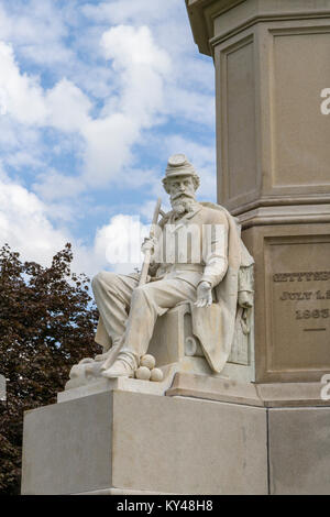 The War Statue, Soldiers' National Monument, Gettysburg National Cemetery (Soldiers National Cemetery), Gettysburg, - Stock Photo