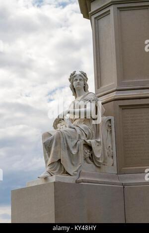 Plenty statue, Soldiers' National Monument, Gettysburg National Cemetery (Soldiers National Cemetery), Gettysburg, - Stock Photo