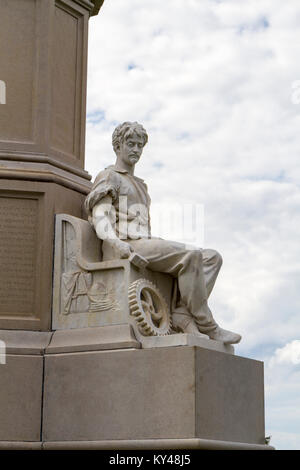 The Peace Statue, Soldiers' National Monument, Gettysburg National Cemetery (Soldiers National Cemetery), Gettysburg, - Stock Photo