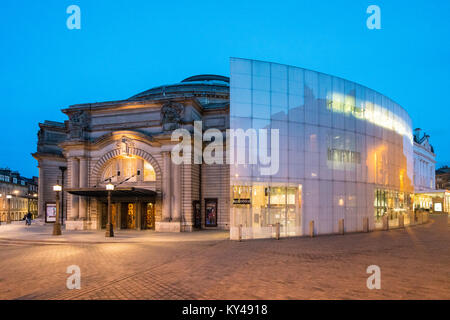 Night view of exterior of Usher Hall theatre in Edinburgh, Scotland, United Kingdom - Stock Photo