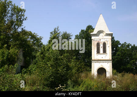 Croat church destroyed during the Croatian War of Independence, 1991 - 1995 - Stock Photo