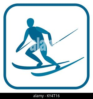 Alpine skier emblem. - Stock Photo