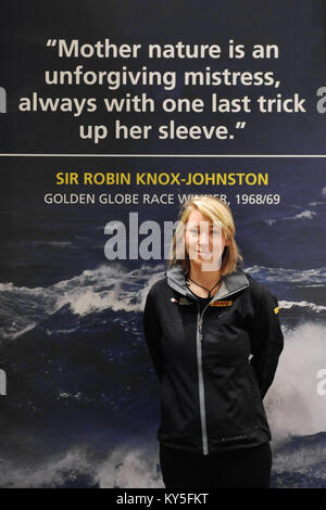 London, UK. 12th January, 2018. Susie Goodall at the Boat Show, ExCeL Exhibition Centre, London, UK. Later this - Stock Photo