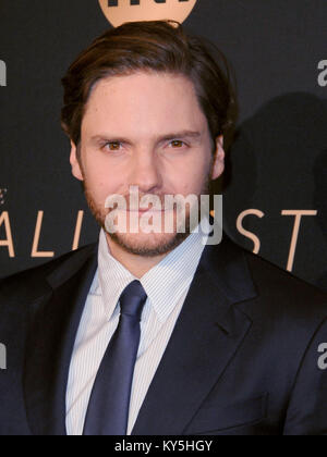 Hollywood, USA. 12th Jan, 2018. HOLLYWOOD, CA - JANUARY 11: Actor Daniel Bruhl attends the Los Angeles Premiere - Stock Photo