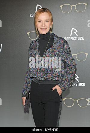 Munich, Germany. 12th Jan, 2018. Actress Katja Flint arrives at the Rodenstock Eyewear Show 2018 at Haus der Kunst - Stock Photo