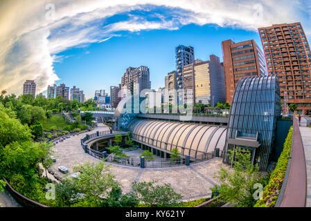 Daan park station in Taipei - Stock Photo