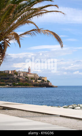Corsica: the skyline of the old citadel of Bastia, the city in the northeast at the base of the Cap Corse, seen - Stock Photo