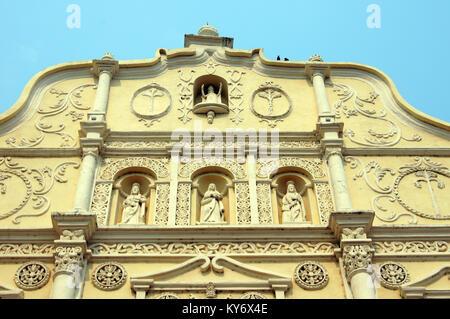 Facade of cathedral in Comayagua in Honduras - Stock Photo