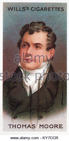 Thomas Moore was an Irish poet and singer 1779 - 1852 - Stock Photo