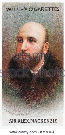 Sir Alexander Mackenzie was a Scottish composer and teacher 1847 - 1935 - Stock Photo