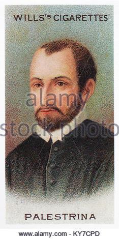 Giovanni Pierluigi da Palestrina was an Italian composer 1525 – 1594 - Stock Photo