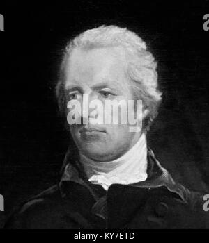 William Pitt the Younger (1759-1806), British Prime Minister at the end of the 18th and beginning of 19th centuries. - Stock Photo