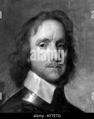 Cromwell. Portrait of Oliver Cromwell (1599-1658) - Stock Photo