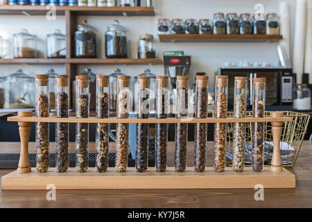 Dearborn, Michigan - A coffee shop called Qahwah House, which imports and serves coffee exclusively from Yemen, - Stock Photo