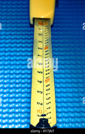 Metal Measuring Tape, USA - Stock Photo