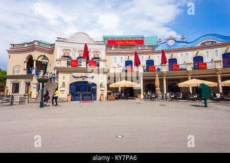 VIENNA, AUSTRIA - MAY 13, 2017: Madame Tussauds Museum is a major tourist attraction in Vienna, Ausria. Madame Tussauds - Stock Photo