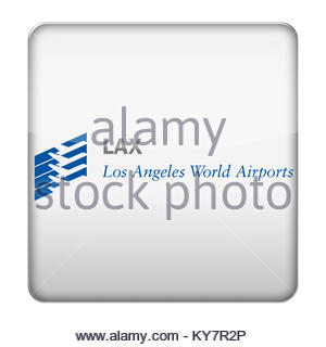 LAX - Los Angeles International Airport icon logo - Stock Photo