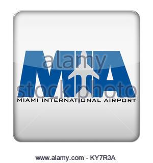 MIA - Miami International Airport icon logo - Stock Photo