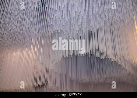 Abstract white background of glass tubes - Stock Photo