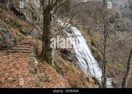 Todtnau waterfall, black forest germany - Stock Photo