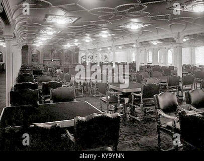 ... RMS Olympicu0027s First Class Dining Room   Stock Photo