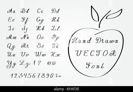 Vector Illustration Hand Drawn Font