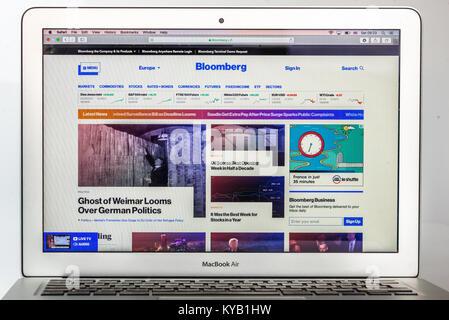 Bloomberg Financial New website - Stock Photo