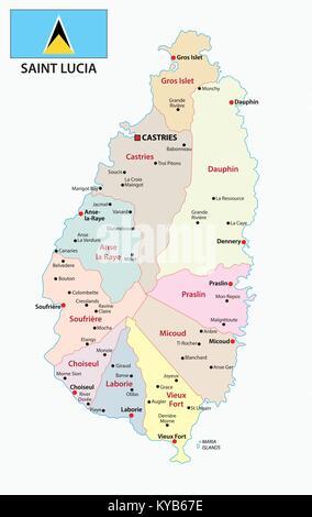 Outline Caribbean map Stock Photo 103468919 Alamy