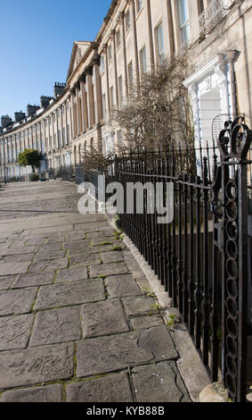 Georgian Town Housing in Camden Crescent, Bath, Somerset, England, UK. - Stock Photo