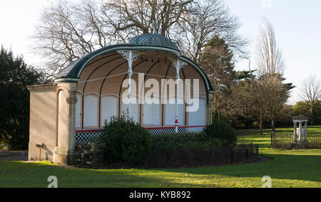 Bandstand in Royal Victoria Park, Bath, Somerset, England, UK - Stock Photo