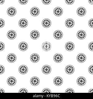 Casino gambling roulette pattern vector - Stock Photo