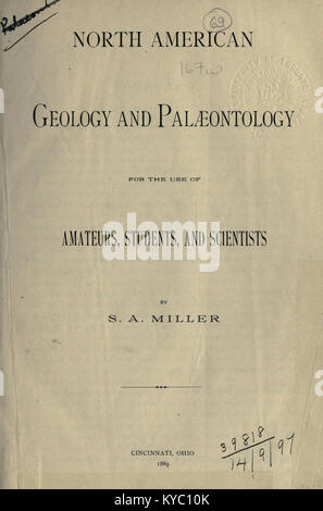 North American geology and palæontology for the use of amateurs, students, and scientists BHL17166875 - Stock Photo