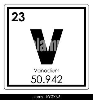 Vanadium v chemical element periodic table 3d render stock vanadium chemical element periodic table science symbol stock photo urtaz Images