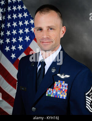 Master Sgt. Clint Stinnett, a loadmaster with the 165th Airlift Squadron, has been named the Kentucky Air National - Stock Photo
