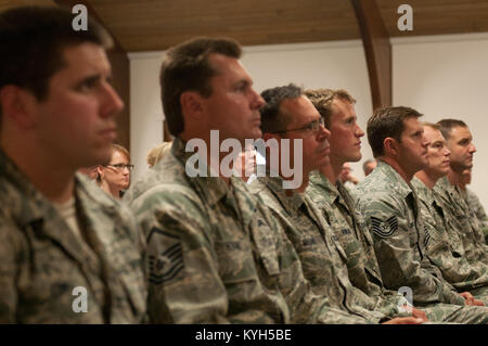 Eight combat controllers from the 123rd Special Tactics Squadron receive  numerous military decorations at the Kentucky - Stock Photo