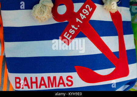 Souvenirs On Display At Great Stirrup Cay Bahamas Stock