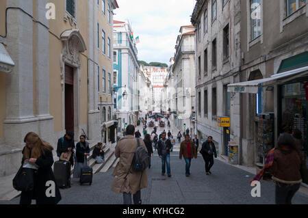 Baixa, Lisbon, Portugal - Stock Photo
