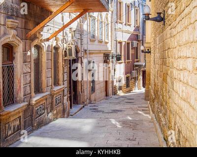 Street in Baku old town - Stock Photo