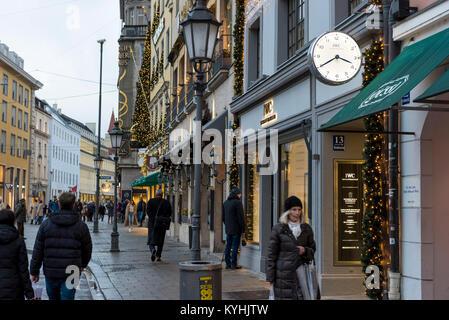 Luxury Shops at Residenzstraße, München, Germany - Stock Photo
