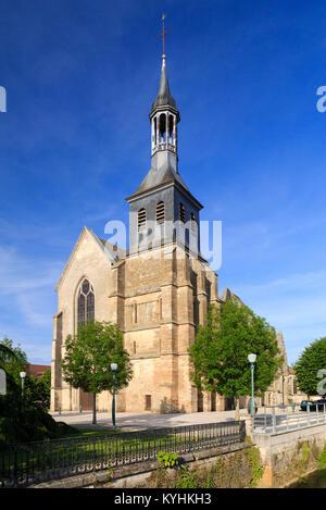 France, Haute-Marne (52), Montier-en-Der, église paroissiale Notre-Dame // France, Haute-Marne, Montier-en-Der, - Stock Photo