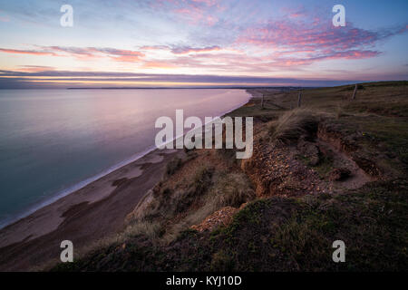 The view from Hengsitbury Head in Dorset. - Stock Photo