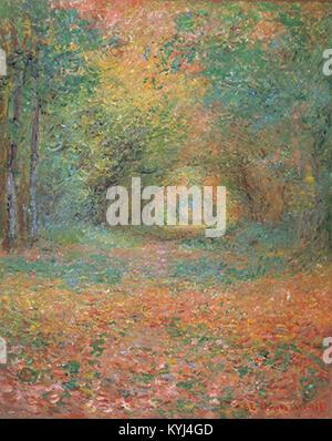 Sous-bois dans la forêt de Saint-Germain by Monet (Yamagata Museum of Art) - Stock Photo