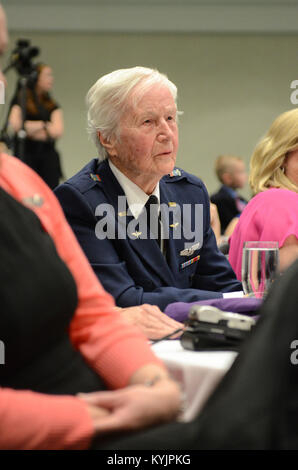 Florence Shutsy Reynolds, 91, a former member of the Women Airforce Service Pilots corps during World War II, attends - Stock Photo