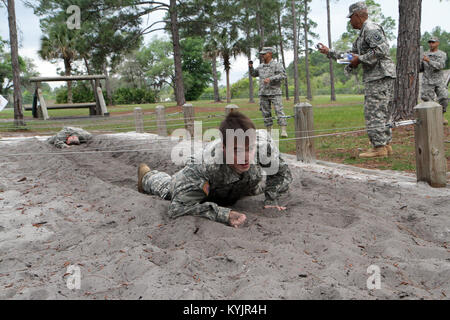 South Carolina Guardsman, Spc. Aaron Drummer, a native of Anderson County, Ky., competes in the 2014 National Guard - Stock Photo